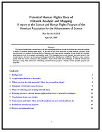 front page of network mapping report
