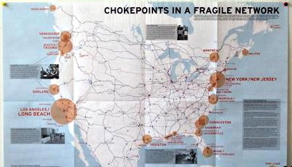 CUPS Chokepoints freight map